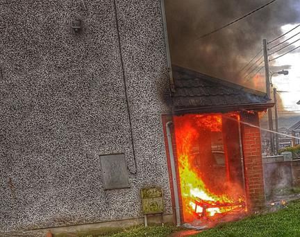 The blaze at a derelict house in the north of the city