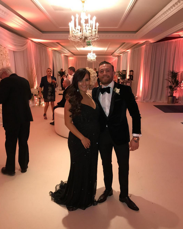 Conor McGregor and Dee Devlin at his sister Aoife's wedding. Image: Instagram