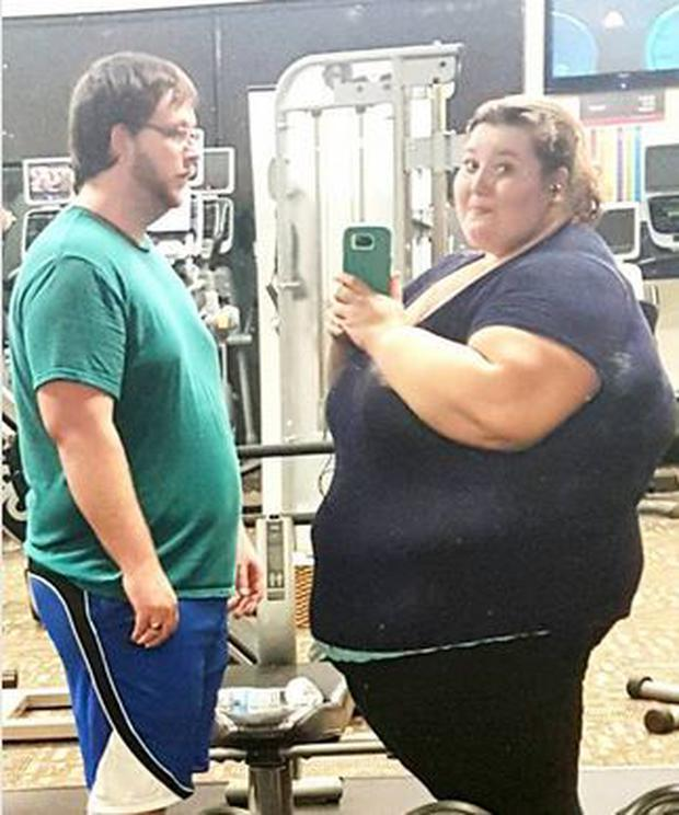 Danny and Lexi pictured in January 2016 before their incredible transformation. @fatgirlfedup
