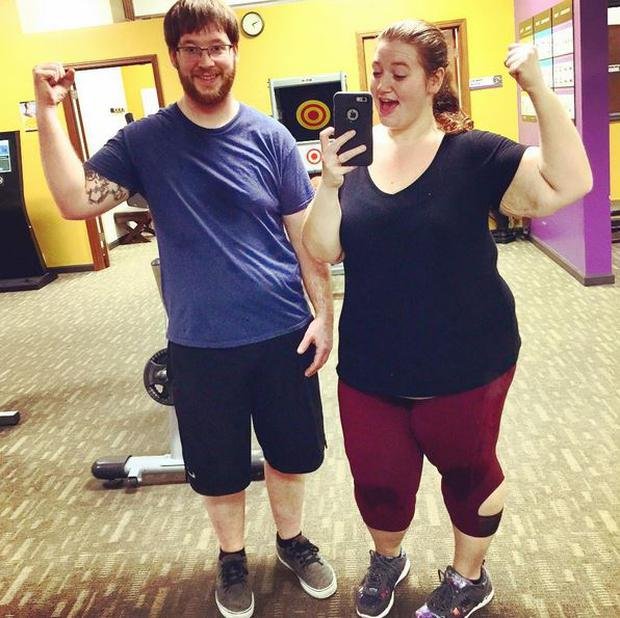 Danny and Lexi have transformed their bodies since January 2016. Lexi one weighed more than 35st. @fatgirlfedup
