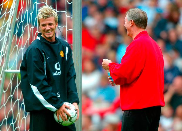 290cec5eb File photo dated 08-08-2002 of Manchester United manager Sir Alex Ferguson  shares