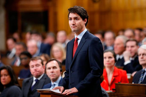 Canada's Prime Minister Justin Trudeau delivers a statement on a deadly shooting at a Quebec City mosque, in the House of Commons on Parliament Hill in Ottawa, Ontario, Canada, January 30, 2017. REUTERS/Chris Wattie