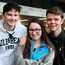 Sean McCleary from Monaghan Town, Katie McGuinness from Collon, Co Louth, and Hugh Fitzgerald from Cork City. Photo: Steve Humphreys