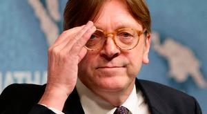 European Parliament Brexit negotiator Guy Verhofstadt speaking at the Royal Institute of International Affairs at Chatham House, London. Photo: PA