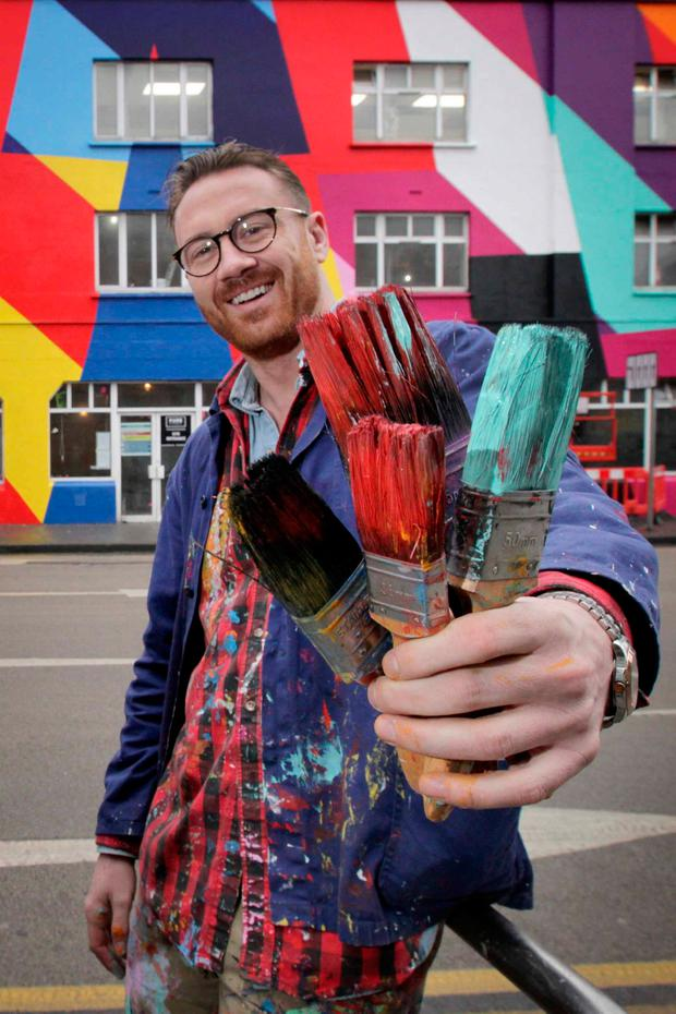 Guaranteed Irish launches 'Hero Awards' with Artist Maser who was awarded first Guaranteed Irish Hero Award for championing contemporary Irish art both at home and abroad. Picture: Mark Stedman