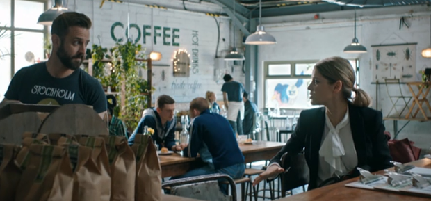 Amy Huberman's character Tara catches the eye of the hunky barista