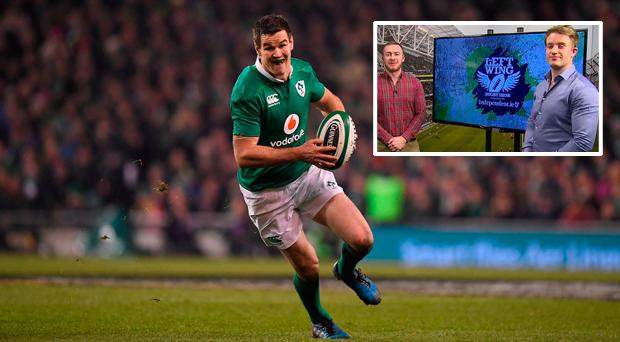 Speaking on the Left Wing, Luke Fitzgerald has played down Johnny Sexton's latest injury