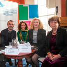 Pictured at The Newsocracy 2 conference at The Irish Writers Centre, Parnell Square this morning were: from left, Dr. Elda Brogi, The Centre for Media Pluralism and Media Freedom, Dr. Roderick Flynn, researcher and lecturer in the DCU School of Communications Lynn Boylan Sinn Féin MEP, Jane Whyatt, European Centre for Press & Media Freedom and Catherine Murphy TD. Photo: Colin O'Riordan