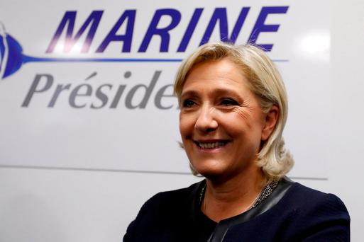 France's far-right National Front leader Marine Le Pen. Photo: REUTERS