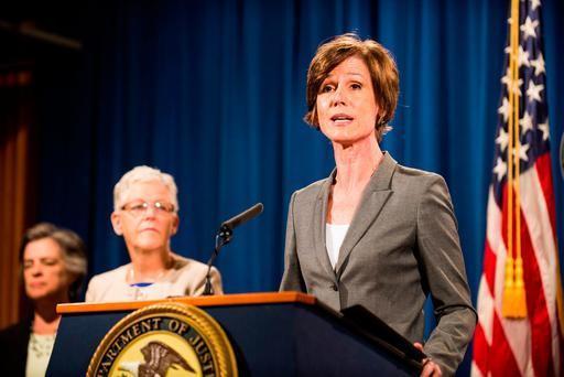 On Monday, Mr Trump fired Sally Yates, the acting US attorney general, after she refused to enforce the policy on principle. Photo by Pete Marovich/Getty Images