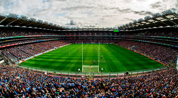 A view of the full house at Croke Park for the Divsion 1 league final between Dublin and Kerry Picture: Sportsfile