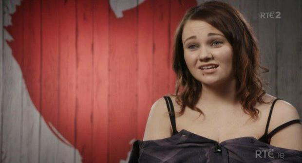 Kayleigh Coleman on First Dates. Image: RTE