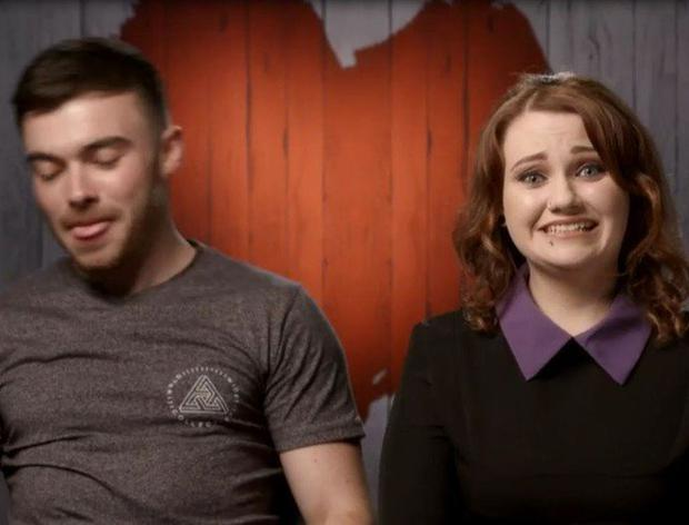 Kayleigh and Ian on First Dates Ireland.