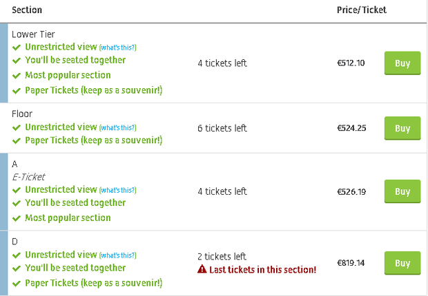 Tickets for Ed Sheeran's Dublin concerts are already selling for €800. Image: viagogo.ie
