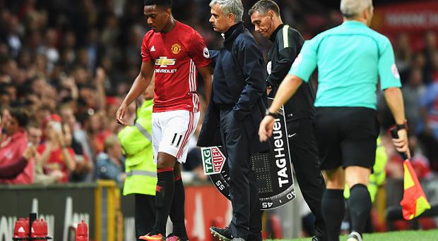 Martial with United boss Mourinho