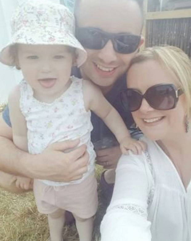 Nikki Hayes with her husband Frank and daughter Farah. Image: Instagram