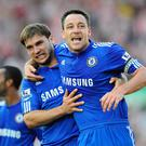 Branislav Ivanovic, left, played alongside John Terry throughout his Stamford Bridge. Getty