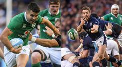 Conor Murray and Greig Laidlaw will lock horns on Saturday