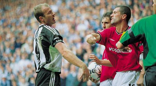 Alan Shearer and Roy Keane were involved in a few flashpoints during their Premier Leageu careers