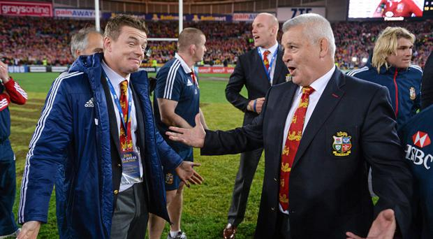 Brian O'Driscoll and Warren Gatland were at Temple Street Children's Hospital today