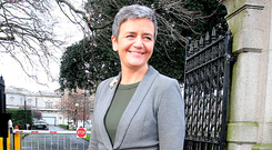 EU Competition Commissioner Margrethe Vestager's visit to the Oireachtas Committee this week highlighted some of the weaknesses in our democracy Photo: Tom Burke