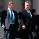 Trump support: Peter King meets Enda Kenny in Washington in 2011 Photo: REUTERS/Jason Reed