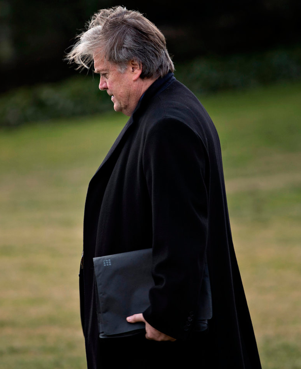 Donald Trump's chief strategist Steve Bannon Photo: Andrew Harrer/Bloomberg