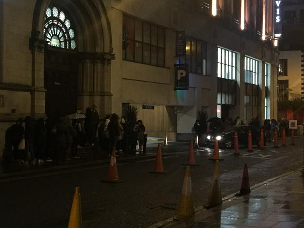 Fans were spotted queuing outside Ticketmaster in Dublin's Jervis Street Shopping Centre at 6.30am. Pic: Independent.ie
