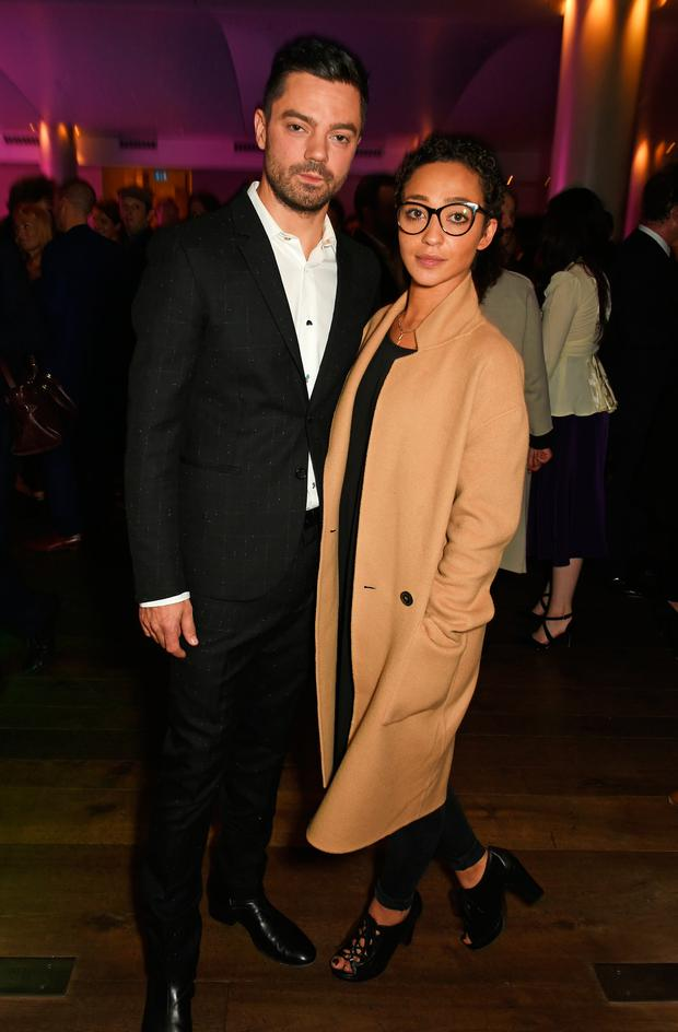 Dominic Cooper (L) and Ruth Negga attend the press night after party for