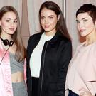 Messiana Kristinsdottir, Cathy Costello and Paula Price at the Debenhams 2017 Spring Summer Showcase at the Pillar Room. Picture: Kieran Harnett