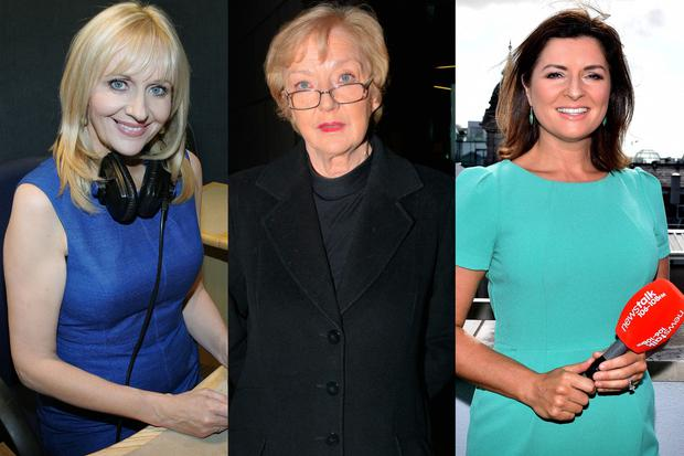 (L to R) Miriam O'Callaghan, Marian Finucane and Colette Fitzpatrick