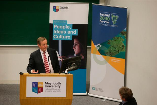 Taoiseach Enda Kenny at the launch of 'Ireland 2040 Our Plan' Photo: Damien Eagers
