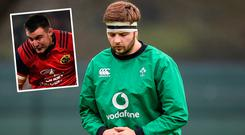 Iain Henderson will start against Scotland while (inset) Scannell is on the bench