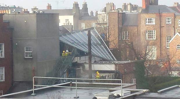 Roof blown off building onto popular bar as heavy winds batter country