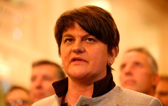 US president Donald Trump has been invited to visit Northern Ireland by Arlene Foster (pictured) and Martin McGuinness. Photo: Niall Carson/PA Wire
