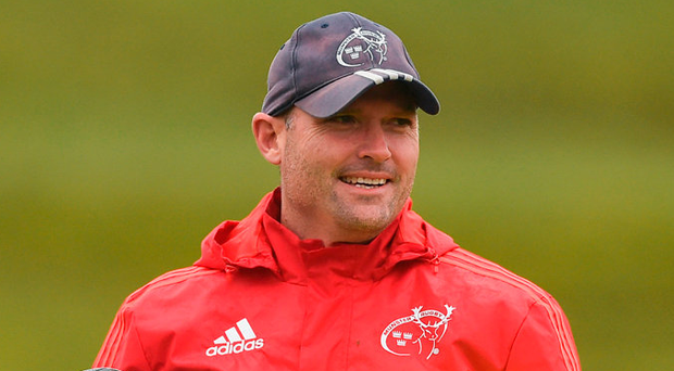 Munster defence coach Jacques Nienaber. Photo: Diarmuid Greene/Sportsfile