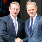 Taoiseach Enda Kenny with Donald Tusk, President of the European Council Picture: Tom Burke