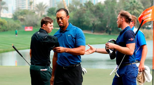 Tiger Woods has withdrawn in Dubai