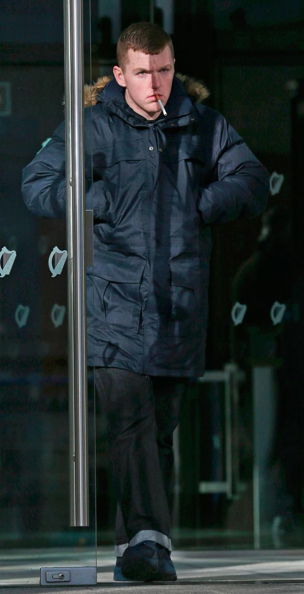 Craig Redmond (21) of Valley Park Drive, Finglas, pictured at the Dublin Circuit Criminal Court where he was jailed for three years with one suspended after pleading guilty to assault. Pic Collins Courts.