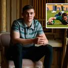 Garry Ringrose, who scored a try against Australia last year (inset), is relishing the challenge ahead