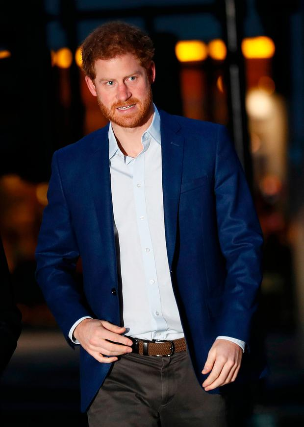 Prince Harry arrives at the London Ambulance Service in central London, Britain February 2, 2017. REUTERS/Stefan Wermuth