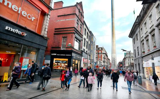 Henry Street where the attack occurred