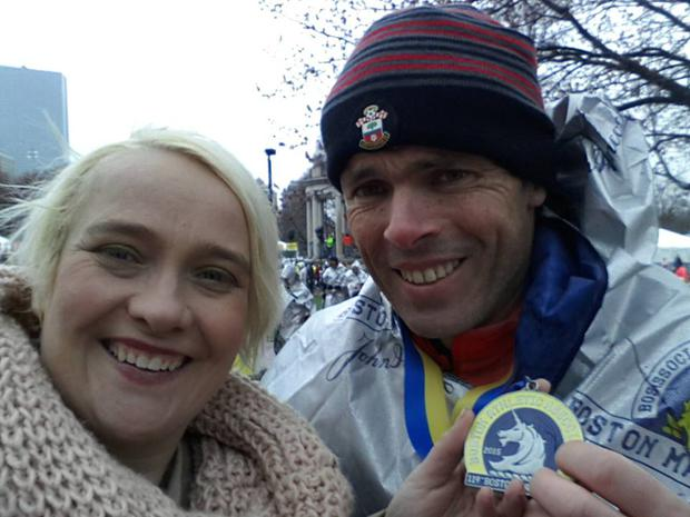 Deirdre would watch her husband Kevin cross the finish line and always dreamed of doing it herself