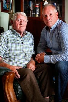 The late Richard Lowndes, from Kilsallagh, Co Dublin, and his son Graham, who shot a burglar during a robbery in 2012 Picture: Steve Humphreys