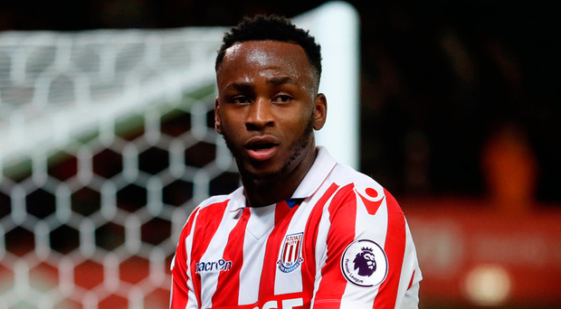 Saido Berahino in action for new club Stoke. Photo: Carl Recine/Reuters