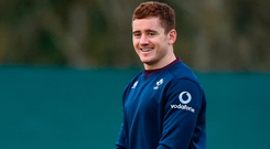Paddy Jackson during Ireland squad training Photo: Matt Browne/Sportsfile