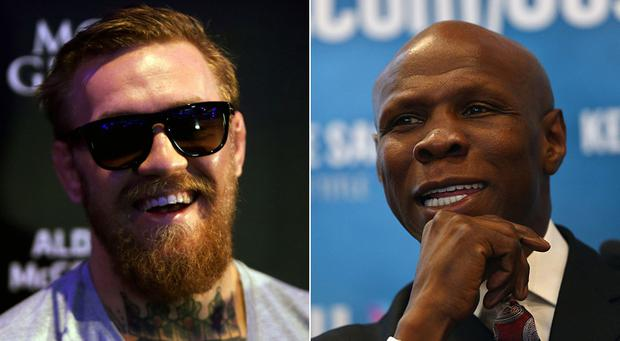 Conor McGregor (left) and Chris Eubank