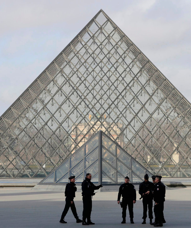 Police at the Louvre Museum