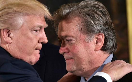 Steve Bannon with Donald Trump