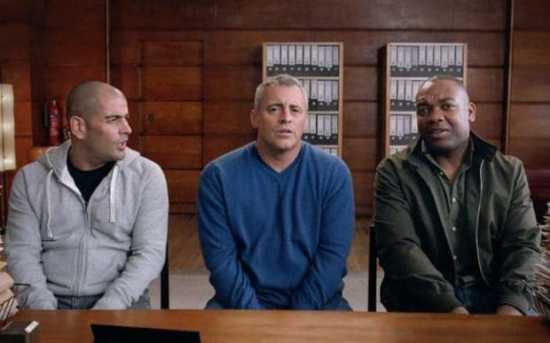 Top Gear presenters Chris Harris, Matt LeBlanc and Rory Reid Credit: BBC
